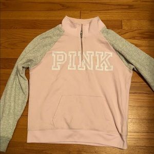Track style sweatshirt from pink